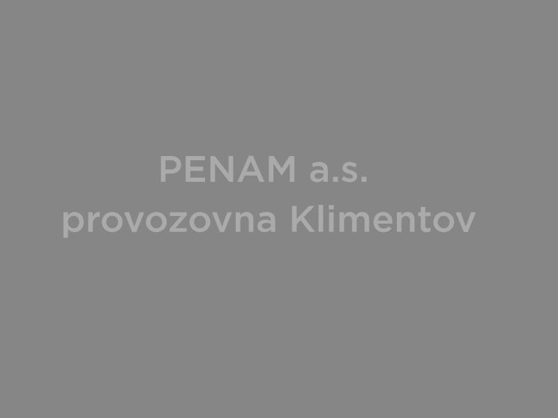 PENAM a.s. provozovna Klimentov